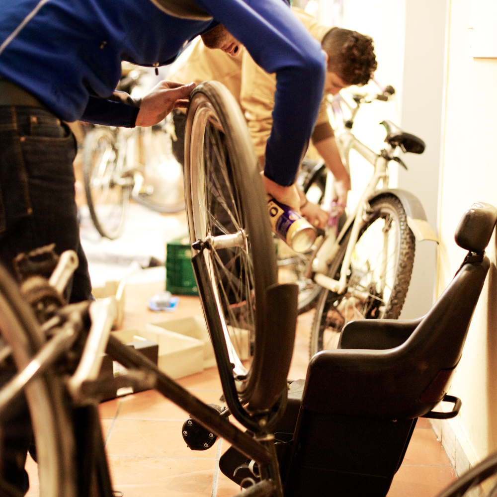 Fahrräder für Bedürftige